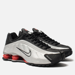 Мужские кроссовки Nike Shox R4 Black/Metallic Silver/Max Orange фото- 1