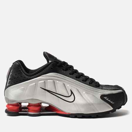 Мужские кроссовки Nike Shox R4 Black/Metallic Silver/Max Orange