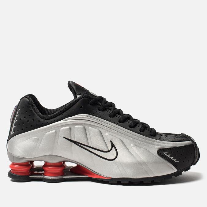 Мужские кроссовки Nike Shox R4 Black/Metallic Silver/Max Orange
