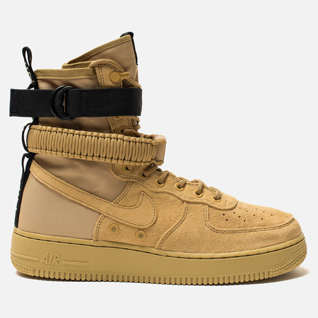 Мужские кроссовки Nike Special Field Air Force 1 Club Gold/Club Gold/Club Gold/Black