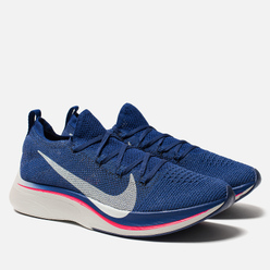 Мужские кроссовки Nike VaporFly 4% Flyknit Deep Royal Blue/Ghost Aqua/Red Orbit