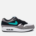 Мужские кроссовки Nike x atmos Air Max 1 Premium Retro Elephant Black/Clear Jade/White фото- 0