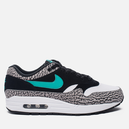 Мужские кроссовки Nike x atmos Air Max 1 Premium Retro Elephant Black/Clear Jade/White