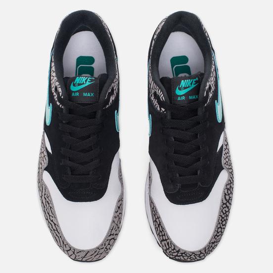 Мужские кроссовки Nike x atmos Air Max 1 Premium Retro Elephant Black/Clear Jade/White