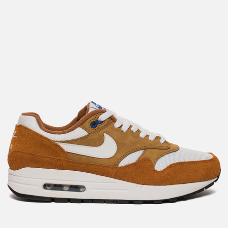 Мужские кроссовки Nike x atmos Air Max 1 PRM Retro Dark Curry/Sport Blue/Black/True White