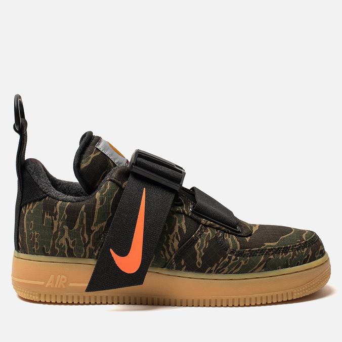 Мужские кроссовки Nike x Carhartt WIP Air Force 1 Utility Low PRM Camo Green/Total Orange/Gum Light Brown