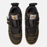 Мужские кроссовки Nike x Carhartt WIP Air Force 1 Utility Low PRM Camo Green/Total Orange/Gum Light Brown фото- 5