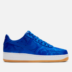 Кроссовки Nike x CLOT Air Force 1 Premium Game Royal/White/Gum Light Brown