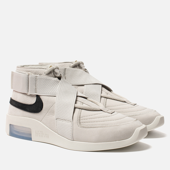 Мужские кроссовки Nike x Fear Of God Air 1 Raid Light Bone/Black/Sail