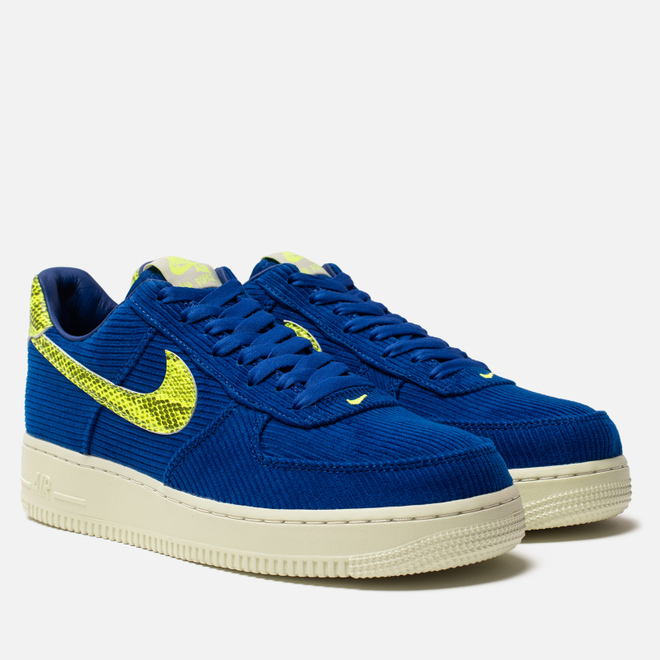 Мужские кроссовки Nike x Olivia Kim Wmns Air Force 1 '07 NXN No Cover Hyper Blue/Volt/Sail