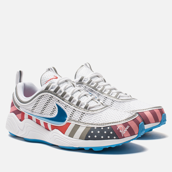 Мужские кроссовки Nike x Parra Air Zoom Spiridon White/Multi Color