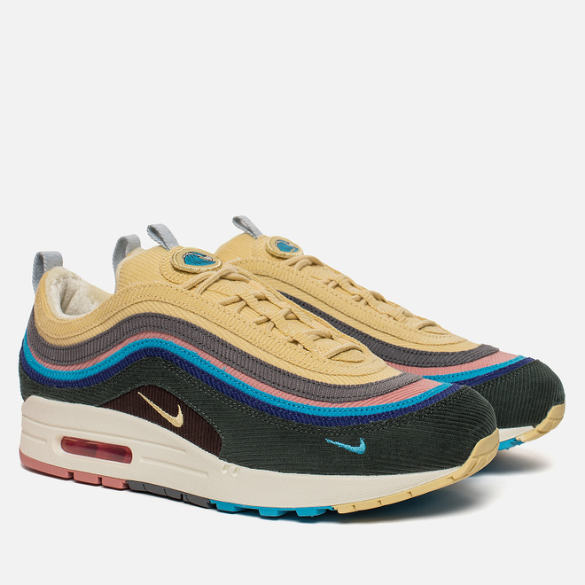 Кроссовки Nike x Sean Wotherspoon Air Max 1/97 VF Light Blue Fury/Lemon Wash