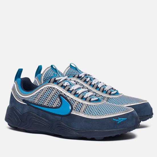 Мужские кроссовки Nike x Stash Air Zoom Spiridon '16 Harbour Blue/Heritage Cyan/Midnight Navy