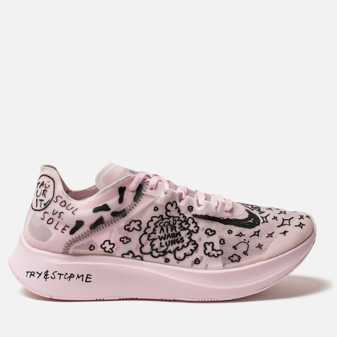 56c0092ec2ea8 Мужские кроссовки Nike x Nathan Bell Zoom Fly SP Fast White Black Pink Foam  ...