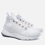 Мужские кроссовки Nike Zoom Talaria Mid Flyknit White/Pure Platinum/Metallic Gold фото- 2