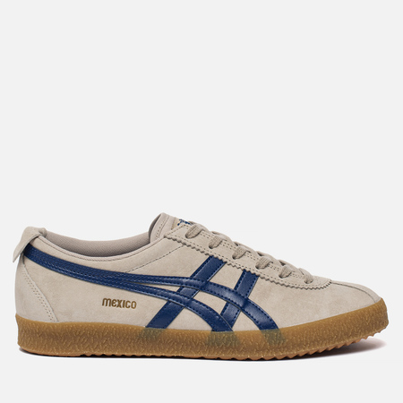 Мужские кроссовки Onitsuka Tiger Mexico Delegation Feather Grey/Navy Peony