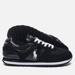 Мужские кроссовки Polo Ralph Lauren Slaton Tech Pony Black/White фото- 1