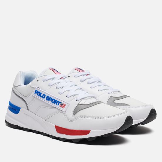 Мужские кроссовки Polo Ralph Lauren Trackster 100 Leather White