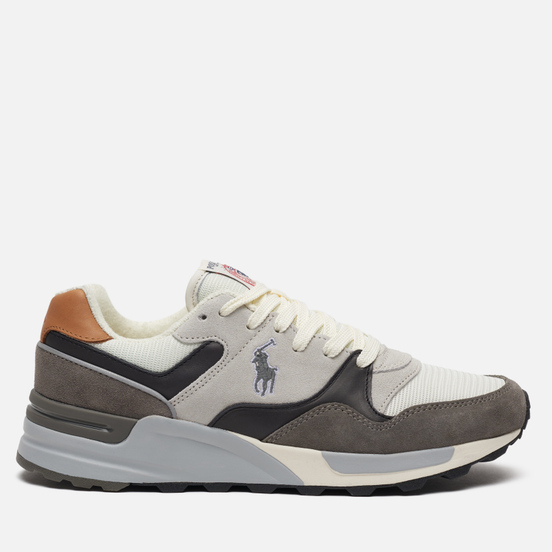 Мужские кроссовки Polo Ralph Lauren Trackster 100 Pony Suede/Leather/Mesh New Graphite/Egret/Skyline Grey