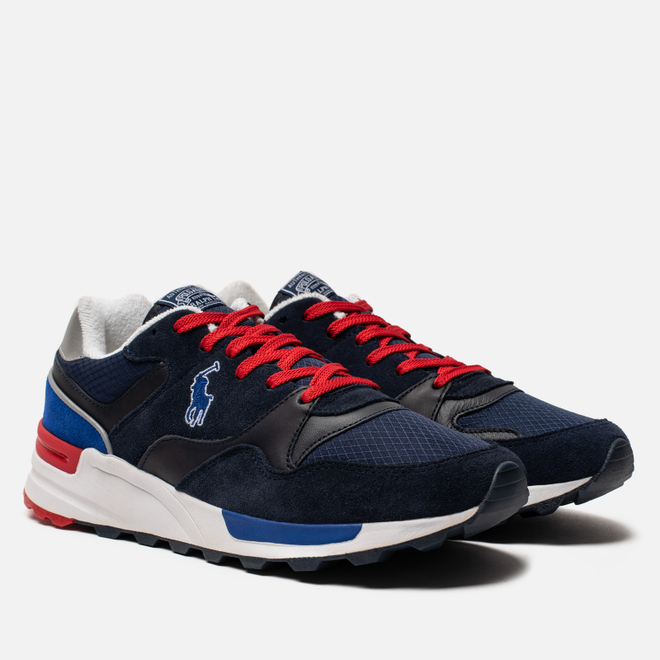 Мужские кроссовки Polo Ralph Lauren Trackster 100 Pony Suede/Leather/Ripstop Newport Navy/Newport Navy/Silver