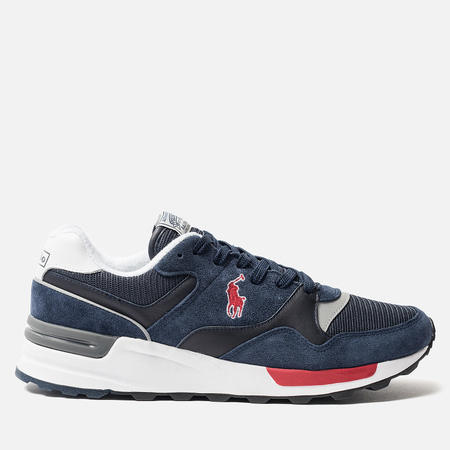 Мужские кроссовки Polo Ralph Lauren Trackster 100 Pony Suede/Mesh Newport Navy/Authentic Navy/Red