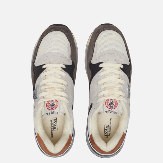 Мужские кроссовки Polo Ralph Lauren Trackster 100 Suede/Leather/Mesh New Graphite/Egret/Skyline Grey