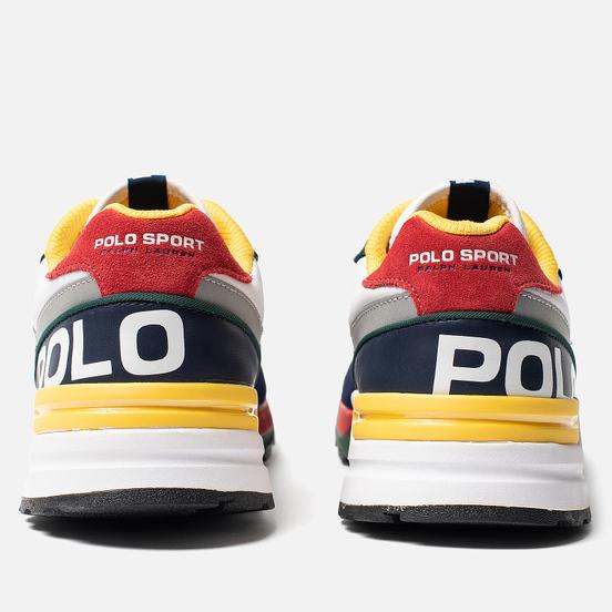 Мужские кроссовки Polo Ralph Lauren Trackster 100 Tartan Wool Cruise Navy/Red/Yellow