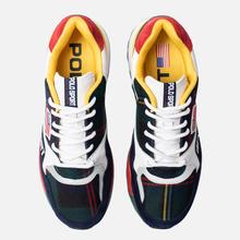 Мужские кроссовки Polo Ralph Lauren Trackster 100 Tartan Wool Cruise Navy/Red/Yellow фото- 5