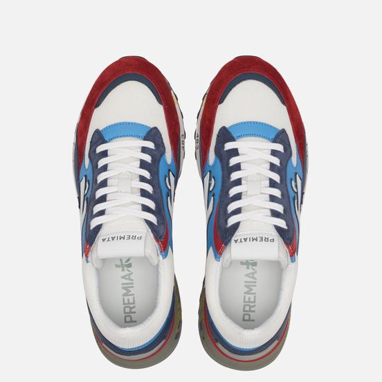 Мужские кроссовки Premiata Django 4686 White/Red/Navy