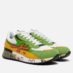 Мужские кроссовки Premiata Django 4687 Green/White/Yellow