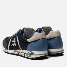 Мужские кроссовки Premiata Lucy 1298E Dark Navy/Blue фото- 2