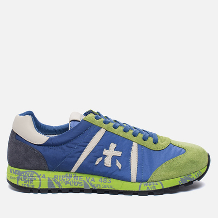 Мужские кроссовки Premiata Lucy 919E Lime/Blue/Dark Grey
