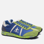 Мужские кроссовки Premiata Lucy 919E Lime/Blue/Dark Grey фото- 1