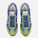 Мужские кроссовки Premiata Lucy 919E Lime/Blue/Dark Grey фото- 4