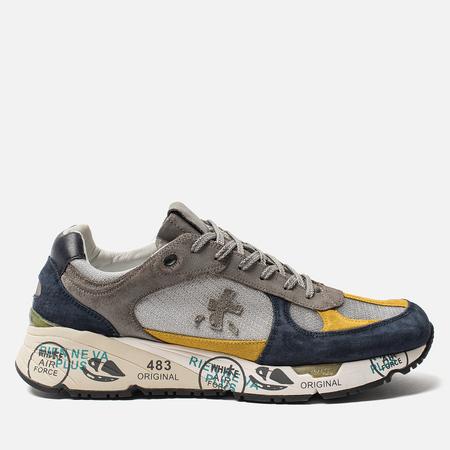 Мужские кроссовки Premiata Mase 3886 Blue/Yellow/Grey