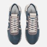 Мужские кроссовки Premiata Mattew 1497E Blue/White фото- 4