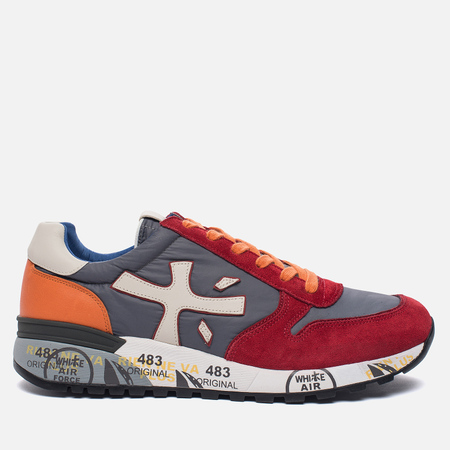 Мужские кроссовки Premiata Mick 1281E Red/Grey/Orange