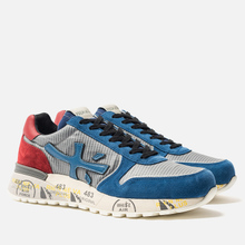 Мужские кроссовки Premiata Mick 4018 Blue/Grey/Red фото- 2