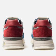 Мужские кроссовки Premiata Mick 4018 Blue/Grey/Red фото- 3