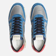 Мужские кроссовки Premiata Mick 4018 Blue/Grey/Red фото- 5
