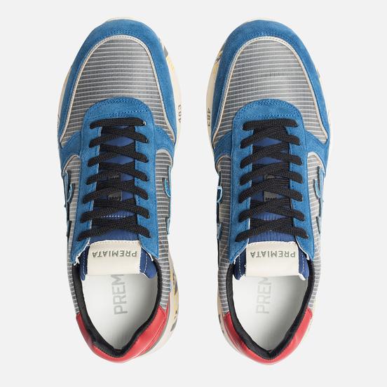 Мужские кроссовки Premiata Mick 4018 Blue/Grey/Red