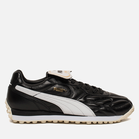 Мужские кроссовки Puma King Avanti Premium Black/White/Whisper White/Team Gold