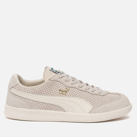 Мужские кроссовки Puma Liga Suede Perforated Birch/Whisper White/Team Gold
