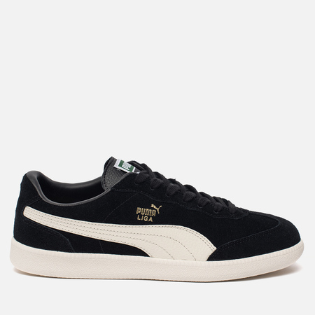 Мужские кроссовки Puma Liga Suede Perforated Black/Whisper White/Team Gold