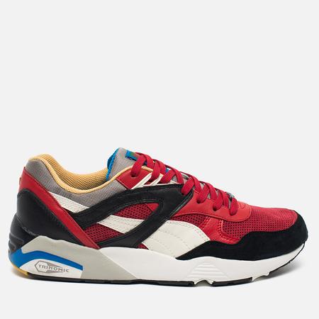 Puma R698 Flag Pack Men's Sneakers Black Asphalt/Barbados Cherry