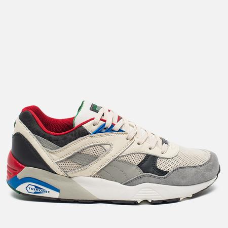 Puma R698 Flag Pack Men's Sneakers Whisper White/Drizzle Asphalt