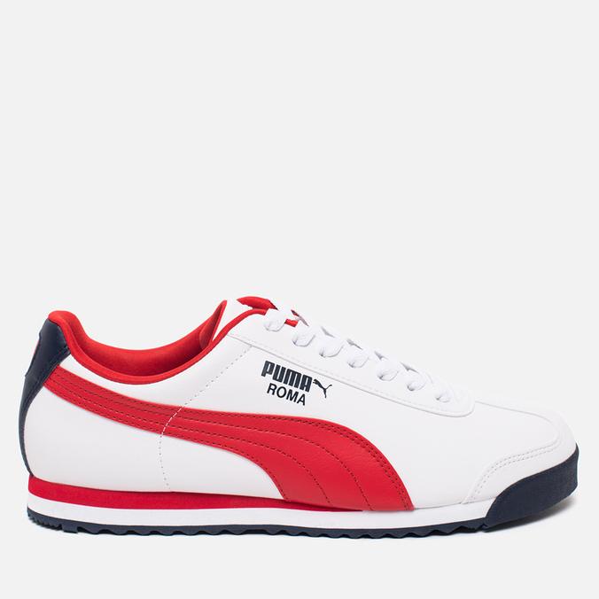 Мужские кроссовки Puma Roma Basic White/Red