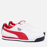 Мужские кроссовки Puma Roma Basic White/Red фото- 1