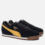 Мужские кроссовки Puma Roma Gents Black/Spectra Yellow/White/Gold фото- 1