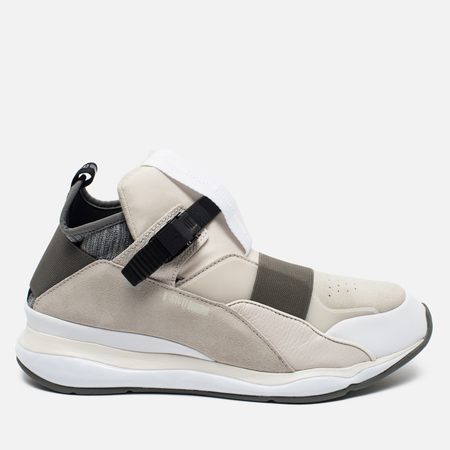 Мужские кроссовки Puma x Alexander McQueen Cell Bubble Runner Mid Whisper White